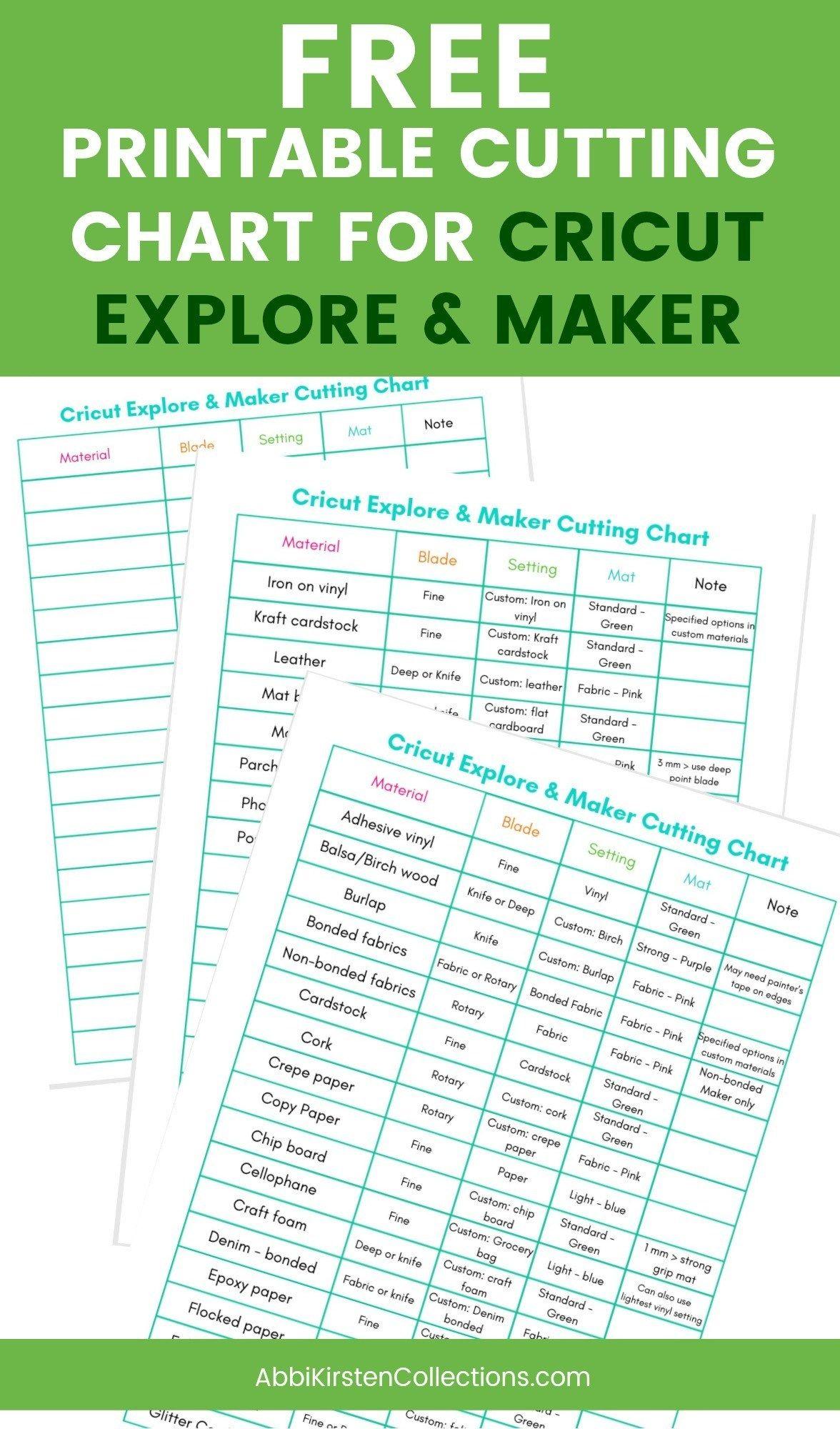 The Best Materials For Cricut Explore And Cricut Maker Machines Cricut Tutorials Cricut Explore Cricut Blades