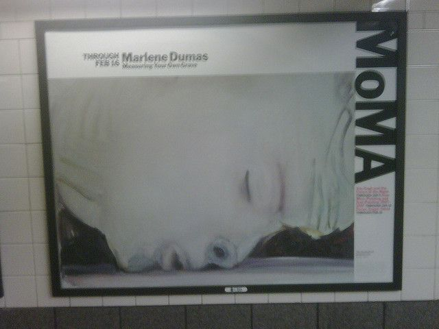 Marlene Dumas Ad at 42nd Street     See the best #Artistic installations in     New York with https://www.artexperiencenyc.com