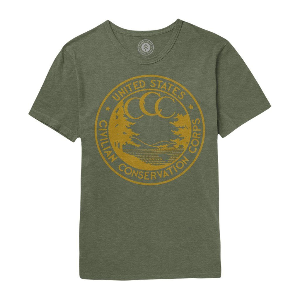 Conservation Corps Vintage Logo Tee Tees, Outdoor outfit