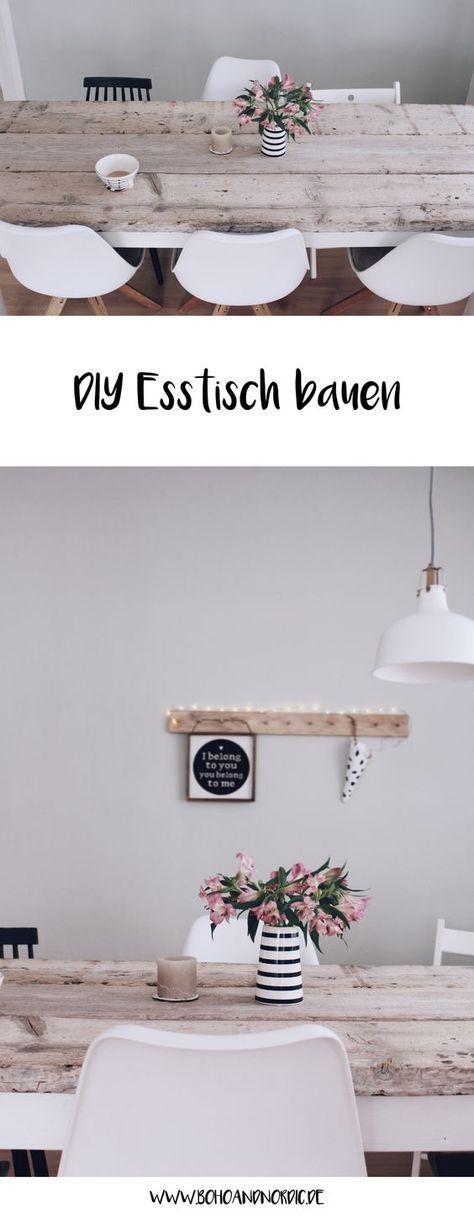 diy esstisch selber bauen in 2018 diy pinterest diy m bel selber bauen und esstische. Black Bedroom Furniture Sets. Home Design Ideas