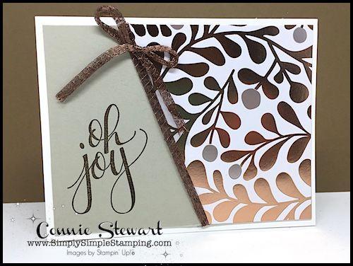 Year of Cheer Specialty Designer Series Paper - One Sheet Wonder - www.SimplySimpleStamping.com - September 6, 2017 blog post!