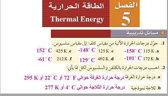 الفيزياء ثاني ثانوي نظام المقررات الفصل الدراسي الثاني Thermal Energy Energy Thermal