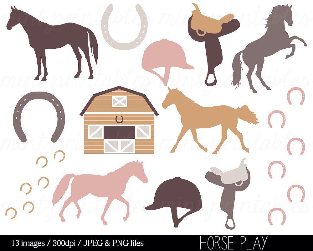 Horse Clipart Horses Clip Art Stable Horse Riding Saddle Etsy Horse Clip Art Horse Clipping Animal Clipart