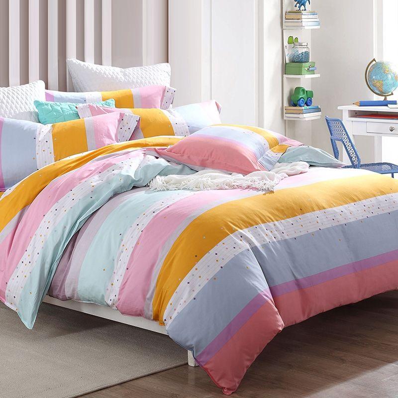 Candy Stripe Bedding Bedspread Bedroom Sets Roupa De Cama Cama
