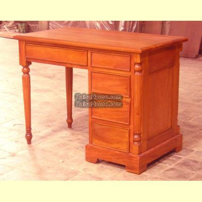 Antique Desk Refrence : RDS 016 Dimension : 105 x 60 x 80 cm Material :  #WoodenMahogany Finishing : #Custom Buy this #Desk&WritingTable for your  #homeluxury ... - Antique Desk Refrence : RDS 016 Dimension : 105 X 60 X 80 Cm