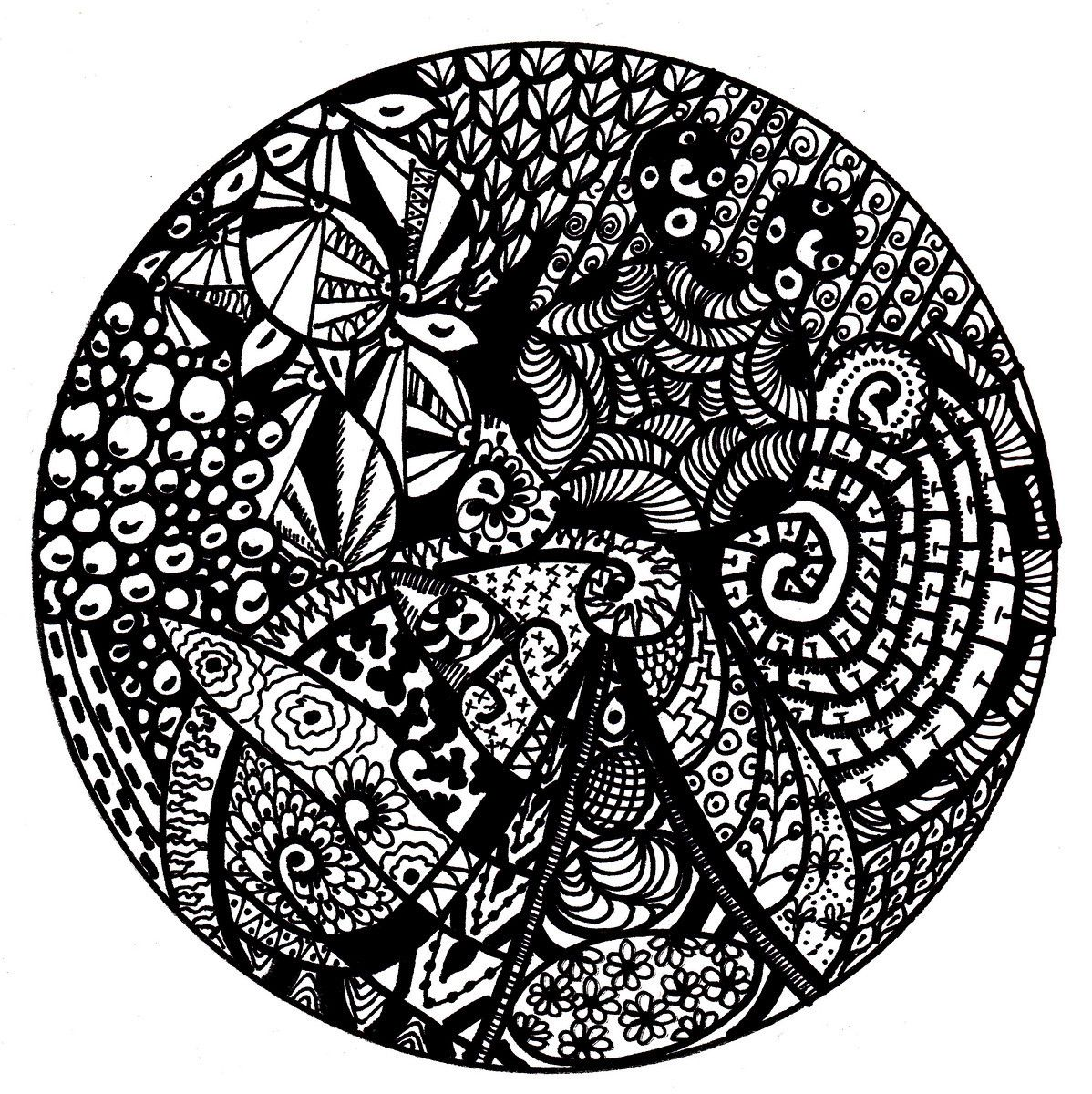 Printable coloring pages zentangle - Free Printable Mandala Coloring Pages Mandala Zentangle Style Drawing