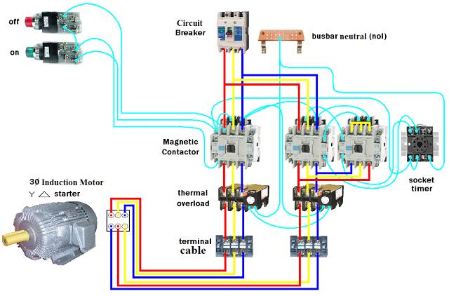 wiring dol starter motor star delta electricos pinterest rh pinterest com Delta Motor Wiring Diagram Star Delta Starter Connection