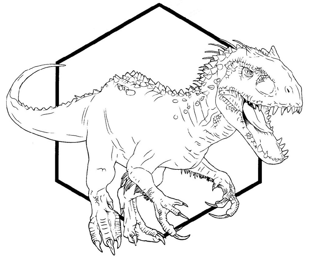 Indominus Rex Coloring Page for Kids Coloring pages