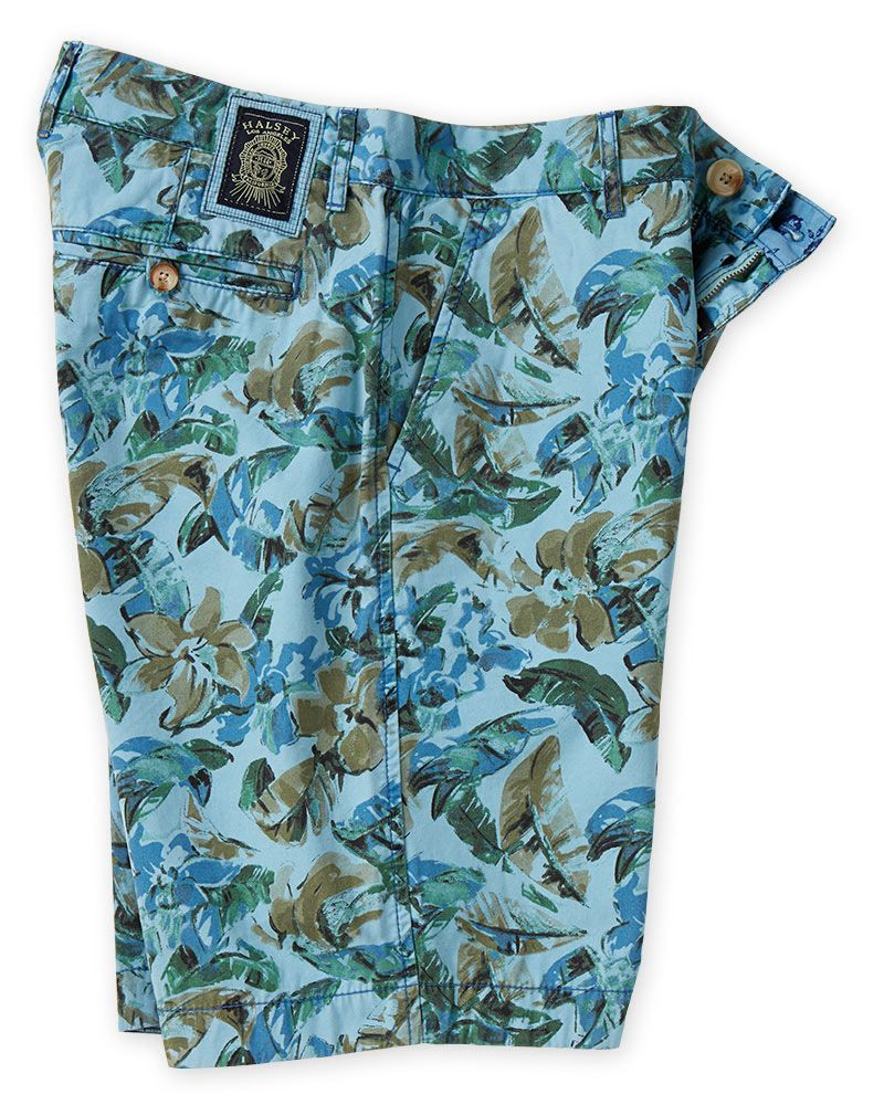 Halsey Vintage Tropical Print Shorts