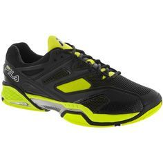 98d1da80b32a Fila Sentinel Men Black Neon Green   Tennis Shoes - Tennis  Holabird Sports