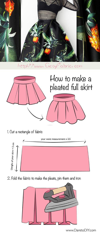 FREE Pleated Skirt Tutorial | Free Sewing Pattern & Tutorial ...