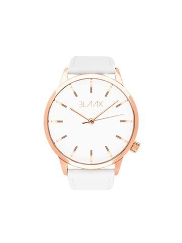 The simplistic White Rose pack features a polished rose gold stainless steel casing, polished rosegold stainless steel minimalist markings and hands, finished with our durable white genuine leatherstrap.Specs:Gender: UnisexCase Siz...