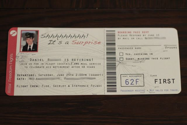 AHG Aviation Badge DIY Airplane ticket invitations AHG Aviation