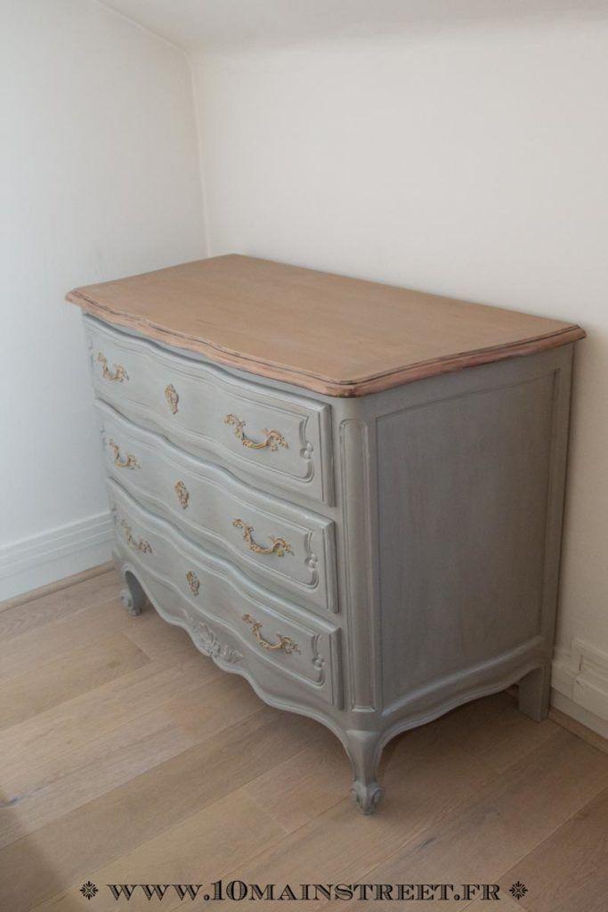 relooking raffin pour une commode en merisier verni des ann es 1970 deco commode chambre. Black Bedroom Furniture Sets. Home Design Ideas