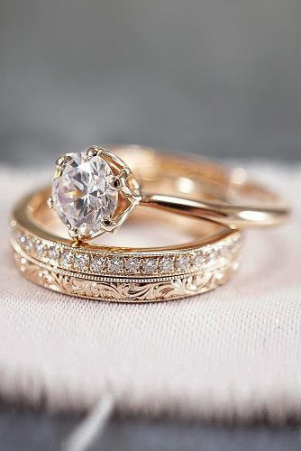 30 Rose Gold Wedding Rings Youll Fall In Love Jewelry Pinterest