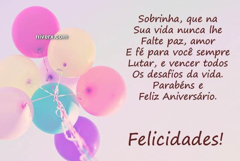Feliz Aniversário Sobrinha Celular Whatsapp Facebook C42 Imagem 1