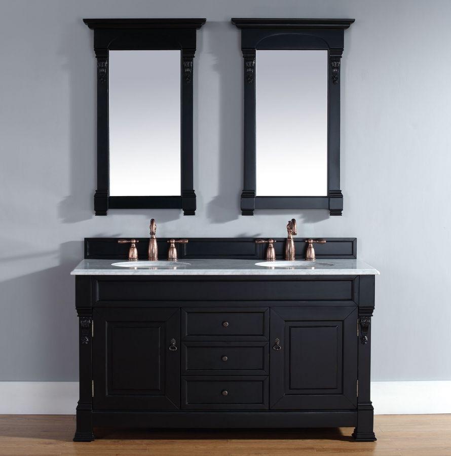 60 Inch Double Sink Bathroom Vanity In Black By James Martin