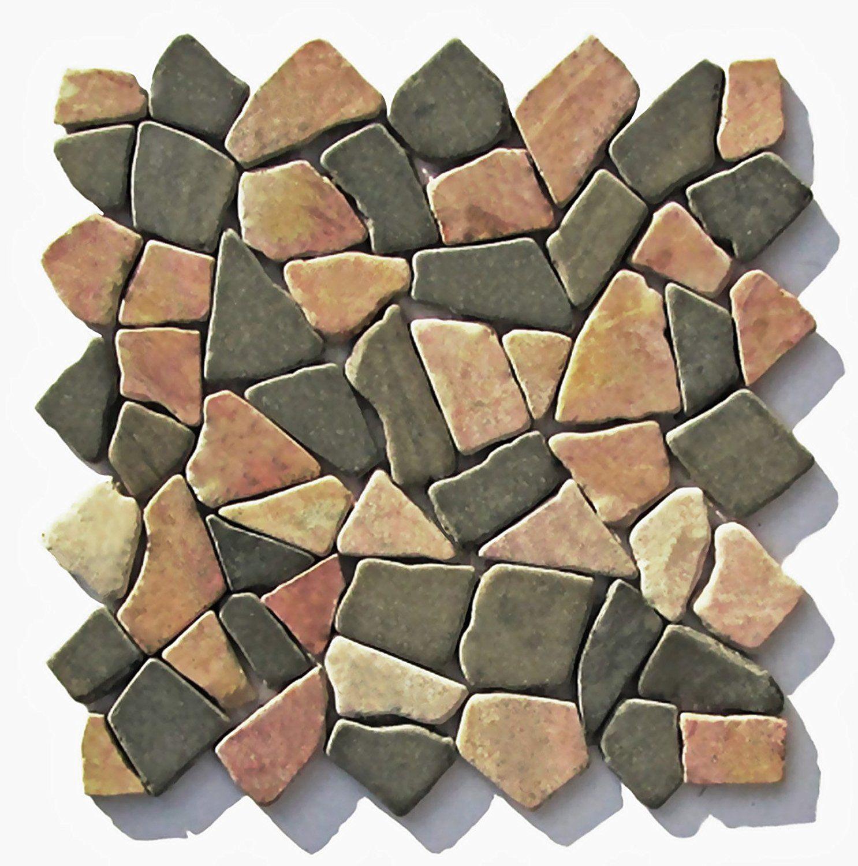 M 007 Marmor Naturstein Bruchsteinmosaik Badezimmer Stein Mosaik