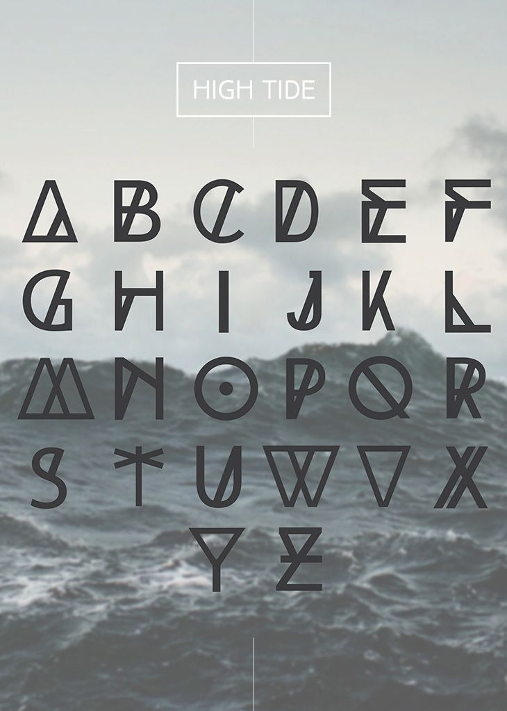High Tide Free Fonts  Portugal Fonts And Calligraphy