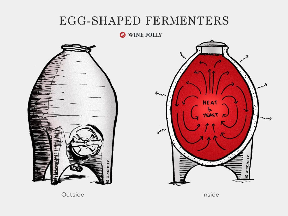 Concrete Egg Fermenters Classic Or Cracked Fad Wine Folly In 2020 Wine Folly Wine Science Wine