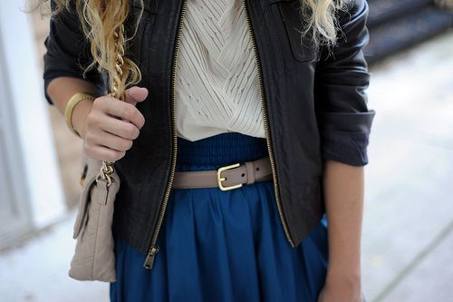 blue; taupe & leather