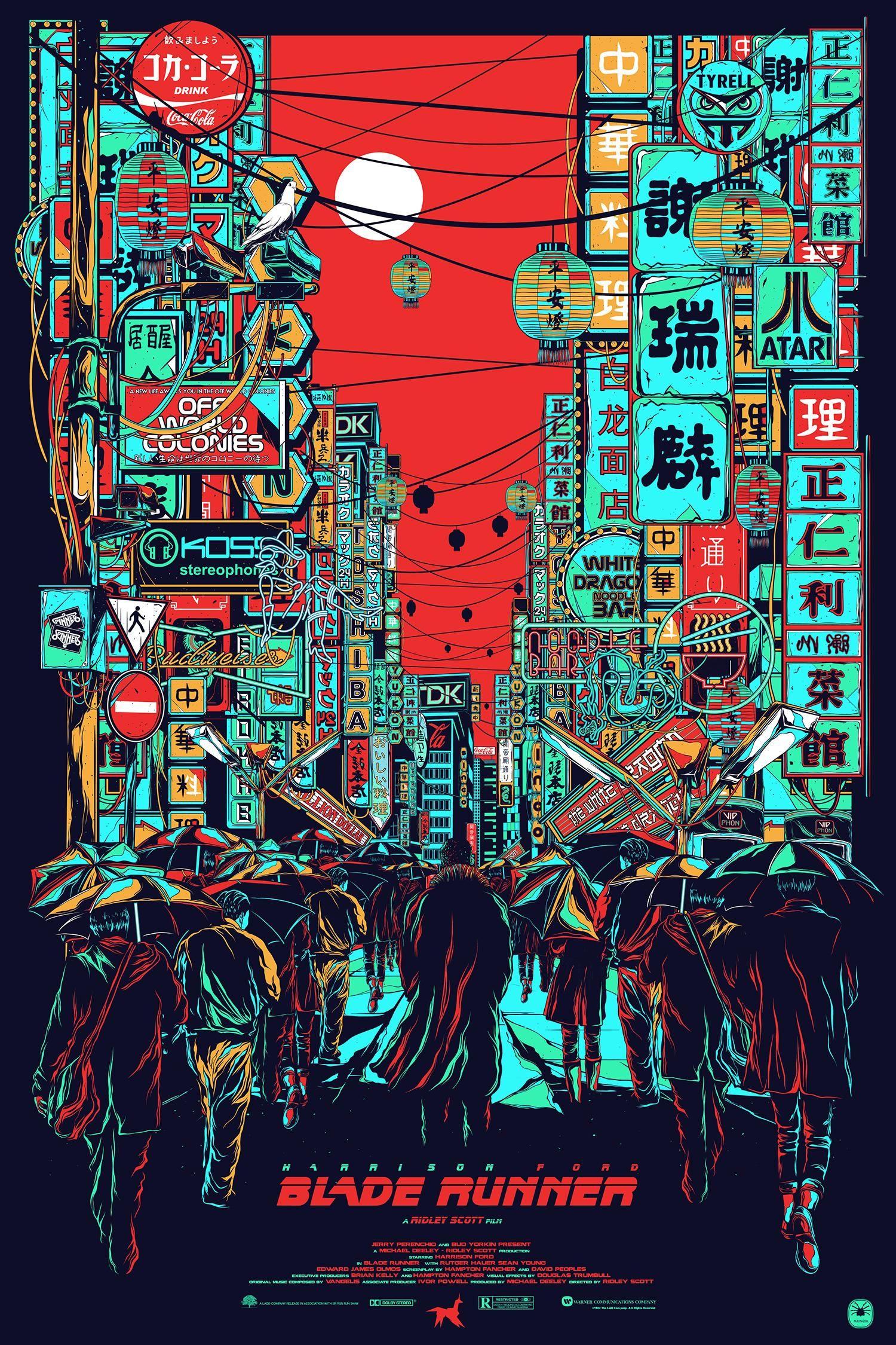 Blade Runner 1982 Hd Wallpaper From Gallsource Com Blade Runner Art Movie Poster Art Blade Runner