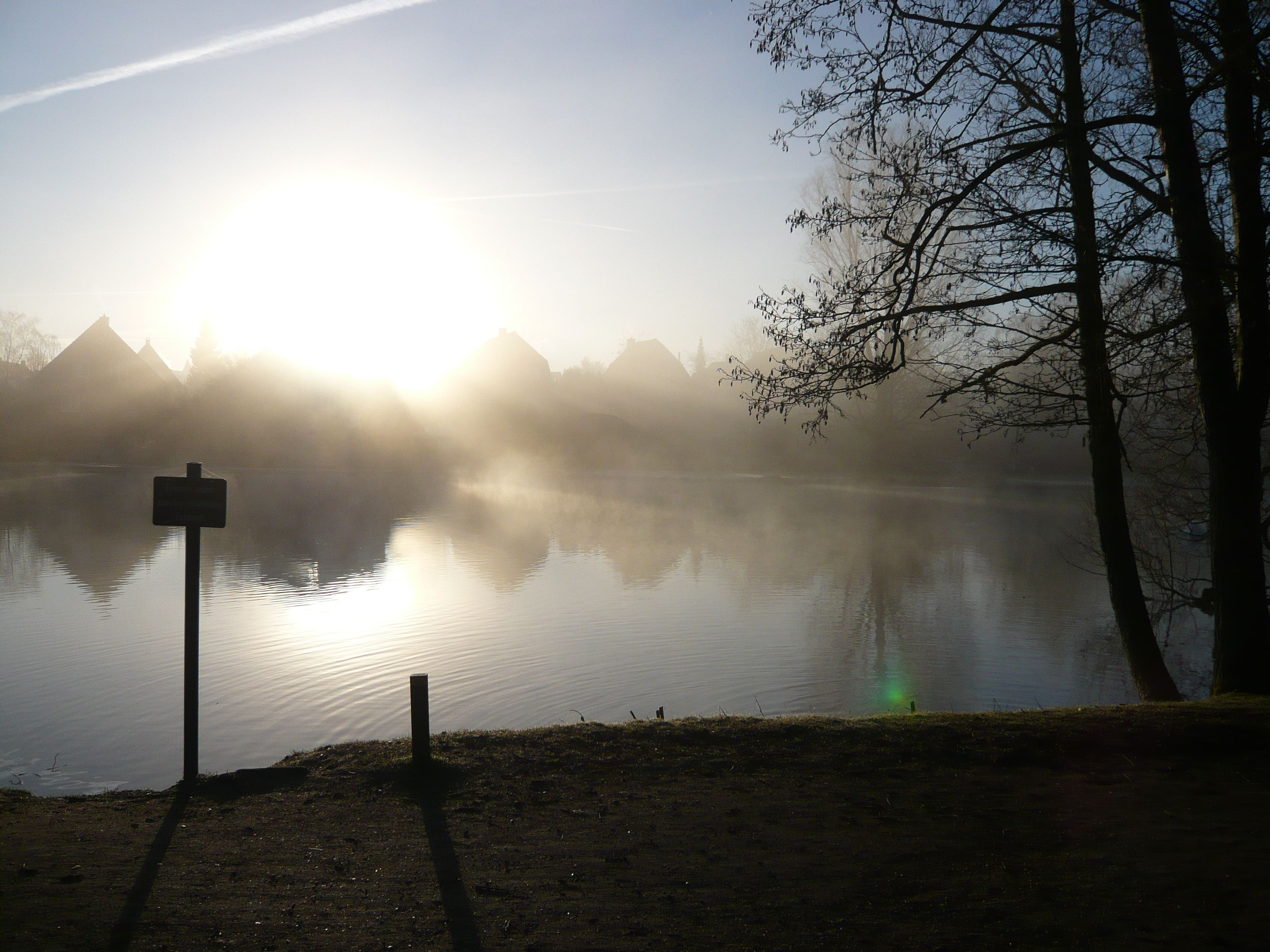 Misty Morning at Gentofte Lake. It took me a very long time getting to work this day, because I had my new pocket Leica camera with me :-)