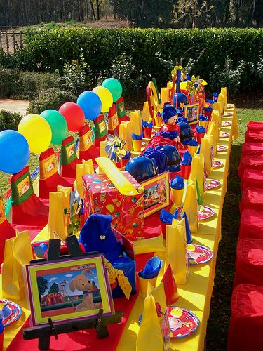 Colorful Crayon Birthday Parties Kids Party Tables Kids Party