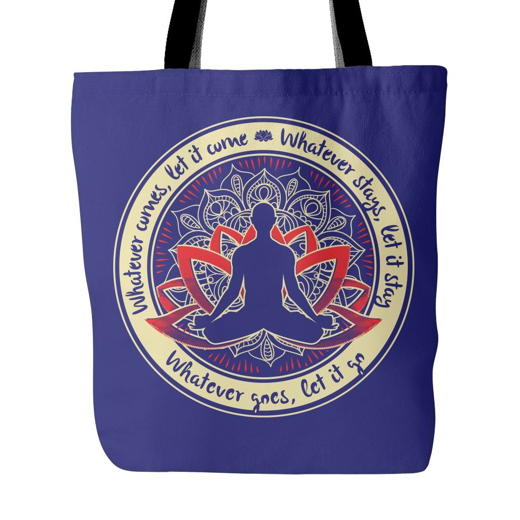 WHATEVER COMES * Lotus Mandala * Buddha Love Tote Bag