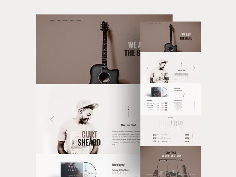 12 Free Music PSD Web Template for Band and Musician - Smashfreakz ...