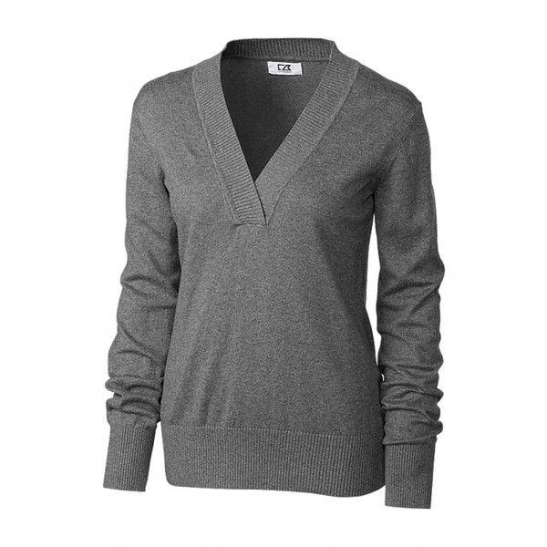 Cutter Buck Ladies Plus Size Long Sleeve Sofia Shawl Golf Sweaters