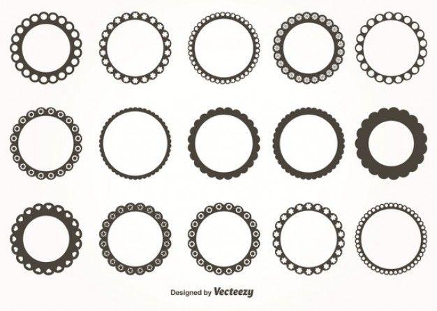 Download Decorative Round Frames Set For Free Libre De Vectores