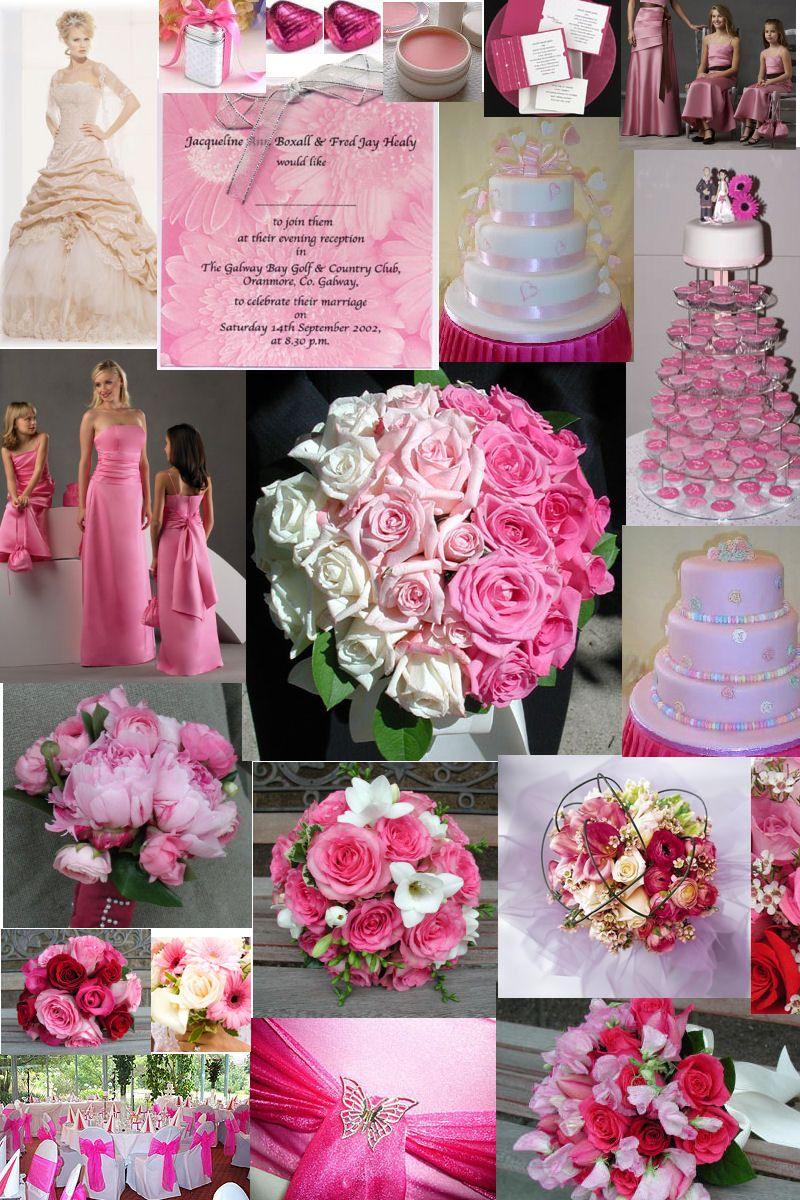 Turquoise and Fuschia Wedding Theme Glamourous Gowns Fuchsia or