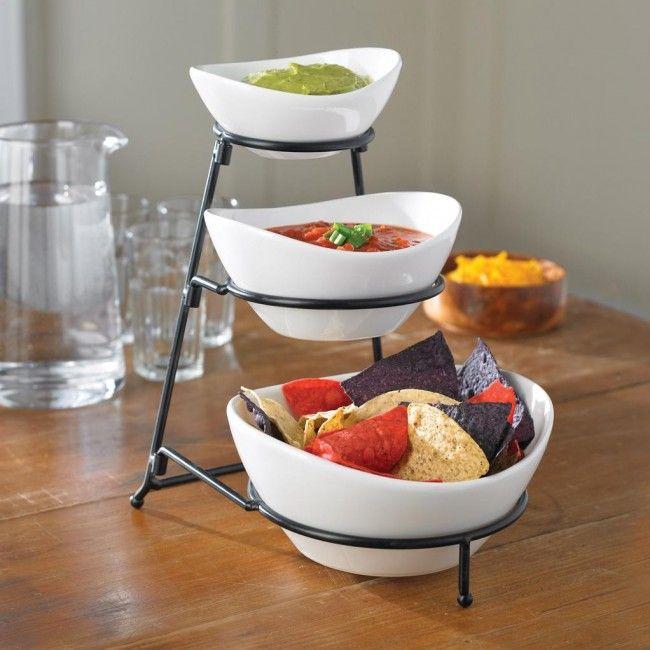 Ksp Strata 3 Tier Serving Bowl Set Serving Bowl Set Serving Dishes Party Serving Dishes