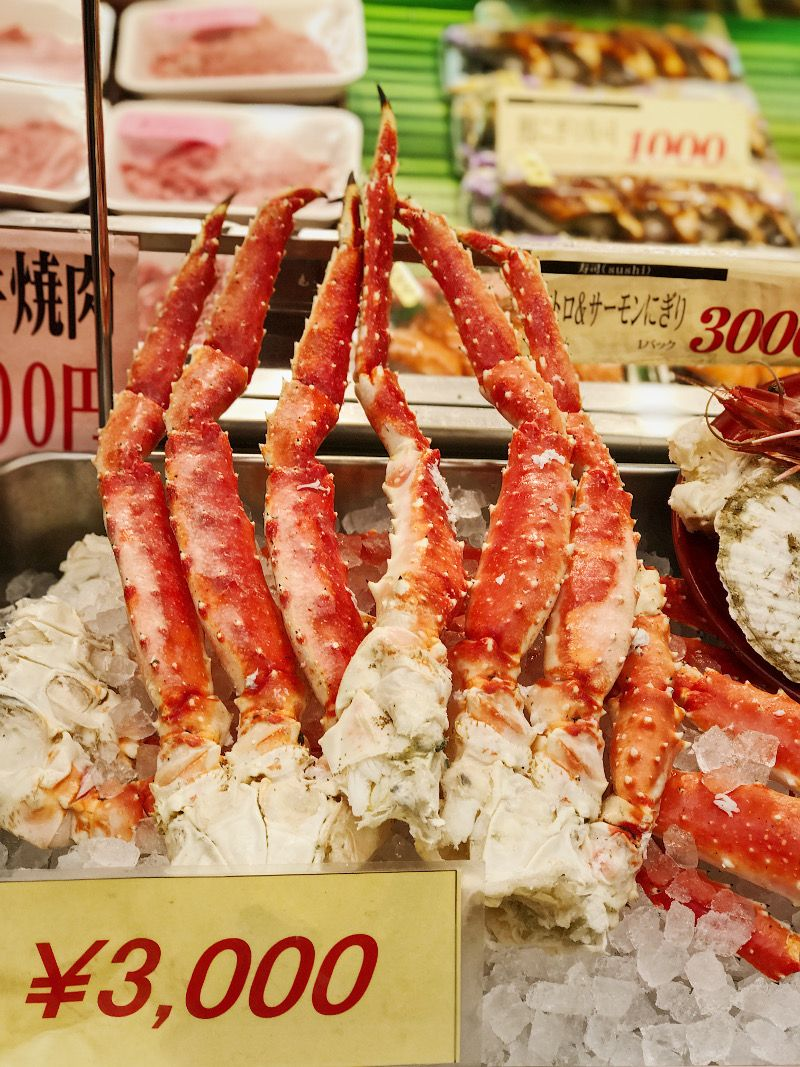 King Crab Kuromon Market Osaka Japan Osaka Osaka Japan Japan