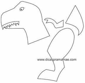 Moldes De Dinossauros Feitos Com Bexigas Molde De Dinossauro