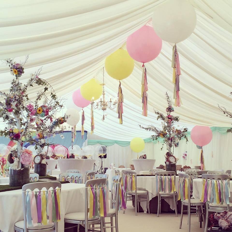 Balloon Decorations For Wedding Reception Ideas: Bubblegum Balloons Marquee Wedding Design.