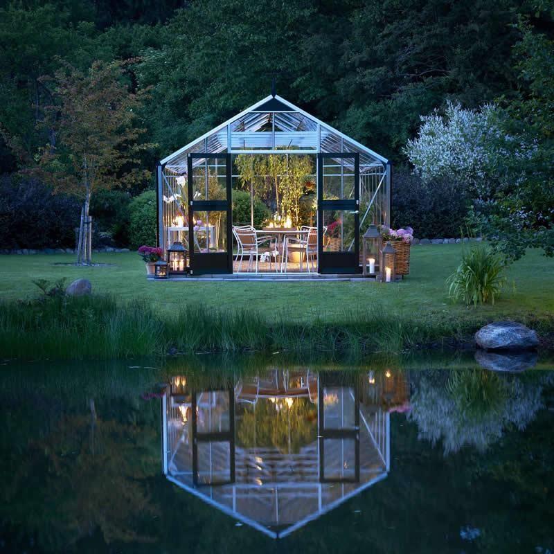 Serre Jardinier 162m² en aluminium et verre trempé - Juliana - maison toit en verre