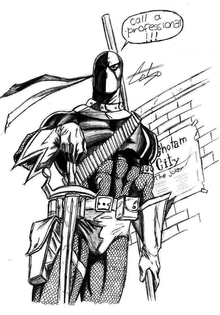 Free Deathstroke Vs Deadpool Coloring Pages 3 Deathstroke Vs Deadpool Deathstroke Coloring Pages