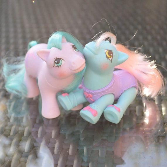 vintage my little pony baby half note amp baby tippytoes