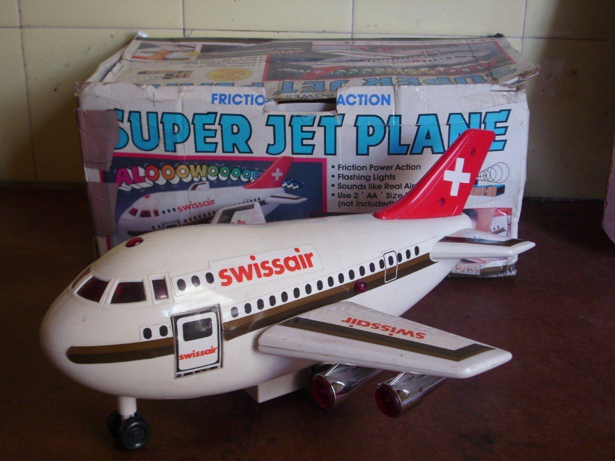 9598 Luz Antiguo Pilas Avion Super Sonido Video Juguete Jet Mira D9EIYHeW2