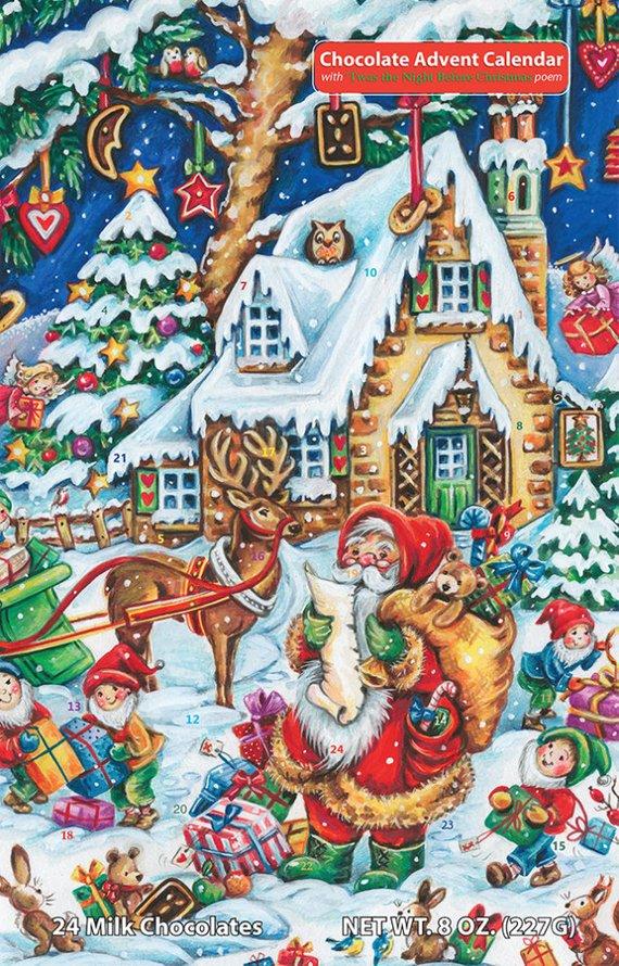 Chocolate Advent Calendar 2019.Santa S Helpers Chocolate Advent Calendar In 2019 Products