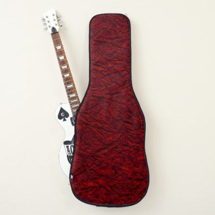 Red Embossed Look Texture Acoustic Or Electric Guitar Case