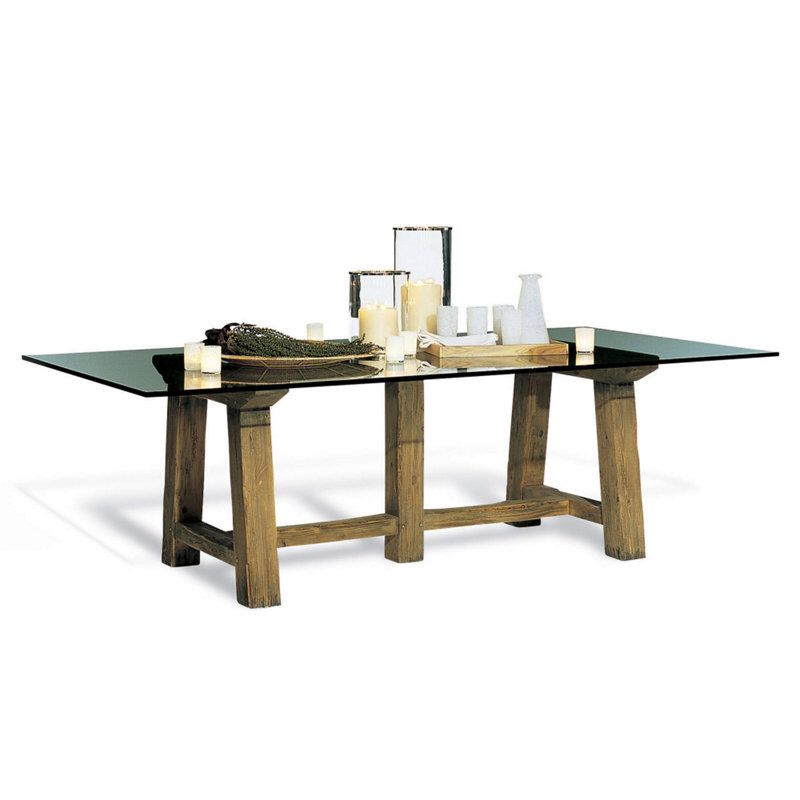 Ralph Lauren Home North Atlantic Coast Dining Table Glass Top Dining Table Modern Rustic Dining Table Dining Table