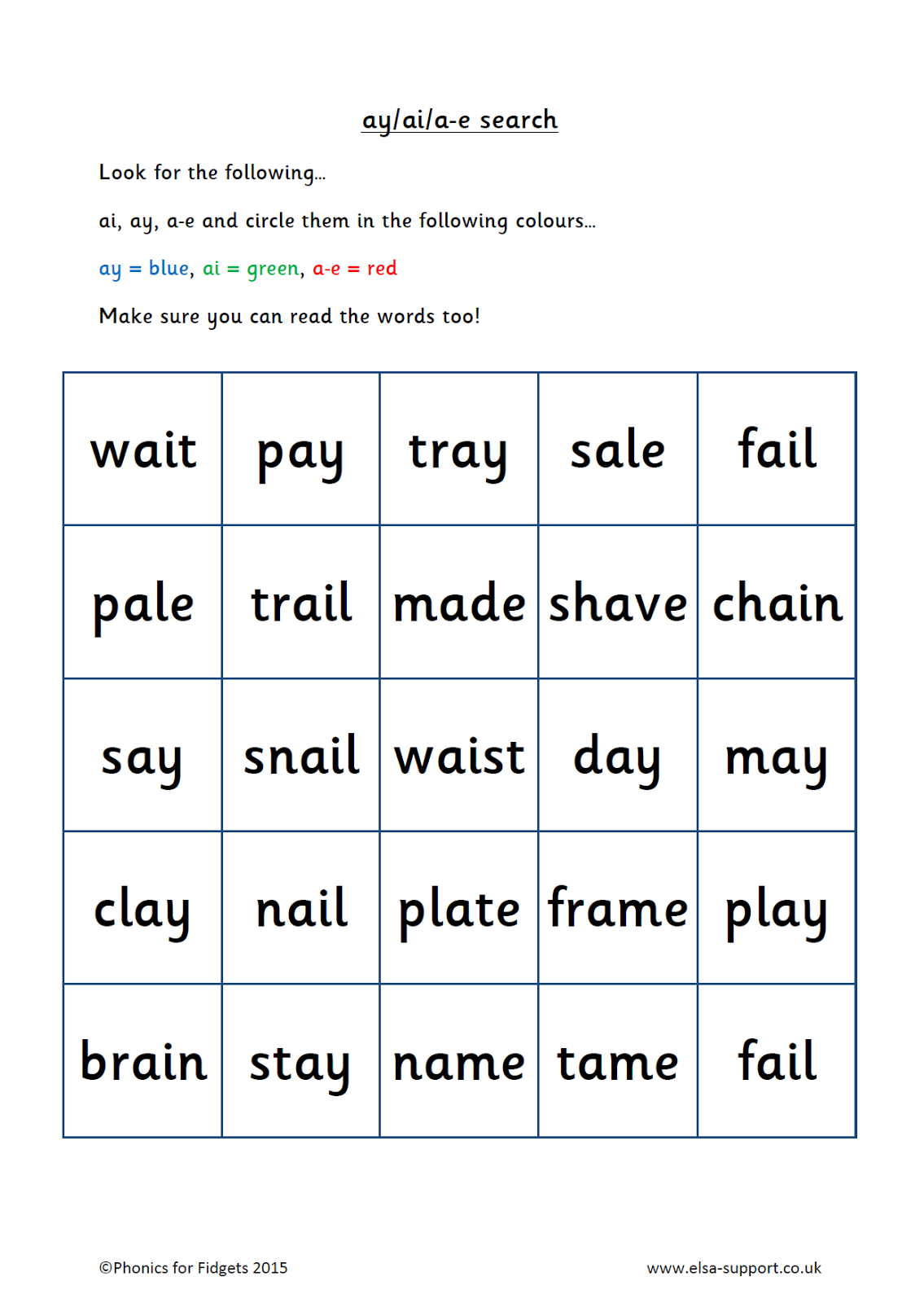 Worksheets Ai Ay Worksheets worksheets ai and ay waytoohuman free for grade 2 all download share on bonlacfoods com