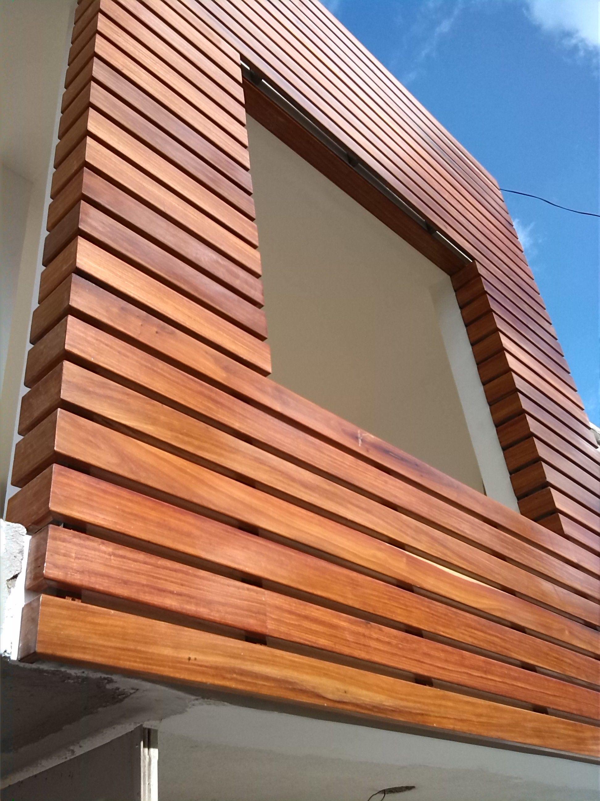 celosia en madera para fachadas