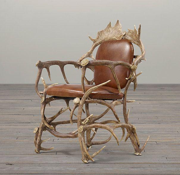 Exceptionnel Black Forest Antler Chair | Chairs | Restoration Hardware