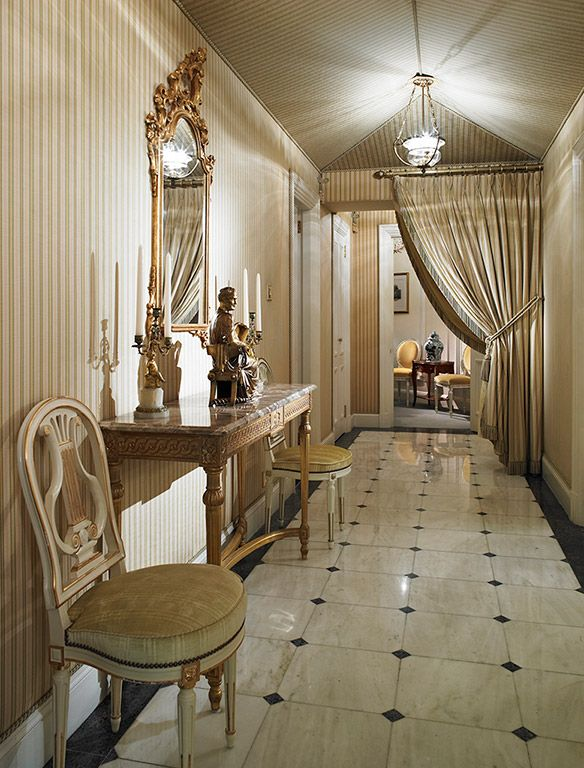 luxurious and splendid elegant stairs design. The Trafalgar Suite offers a beautiful and regal drawing room  an elegant luxurious bedroom that sense of country living with views splendid Ritz London Hotel Luxury Travel