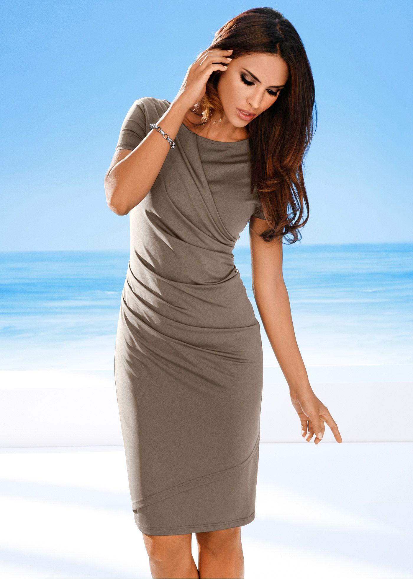12c8ed2bb Vestido marrom acinzentado encomendar agora na loja on-line bonprix ...