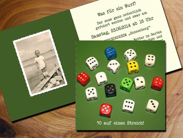 Schön Einladungskarten   Einladung 70. Geburtstag   Ein Designerstück Von Zelka  Bei DaWanda